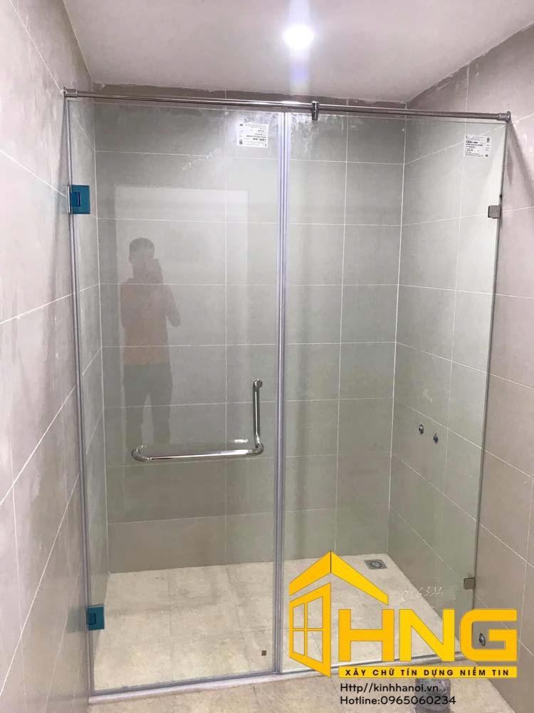 Vách kính cabin tắm bộ 180 độ thẳng 2 tấm